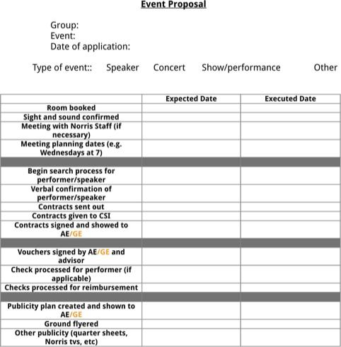 Event Proposal Template Event Proposal Event Proposal Template Proposal Templates