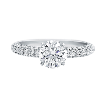 attraction by harry winston diamond engagement ring 110 carats total weight 239 carats - Harry Winston Wedding Rings