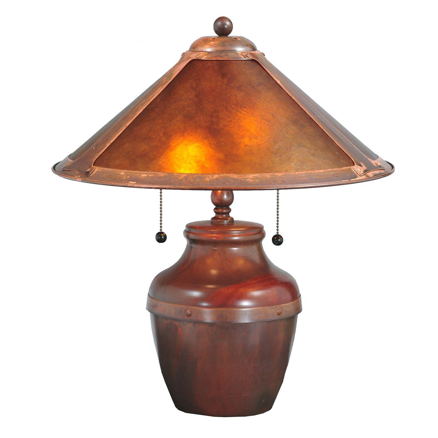 Amber Mica Table Lamp