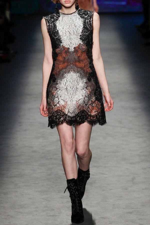 Mini Crackle Jacquard Dress - FALL WINTER 2016 ALBERTA FERRETTI - in preorder on www.PRECOUTURE.com