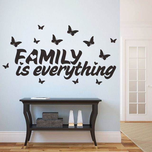New Home Decor Butterfly Family Is Everything Quote Wall Stickers Adhesive Vinyl Sticker Home Decoratio Diy Wall Decals Butterfly Wall Decor Family Wall Decals