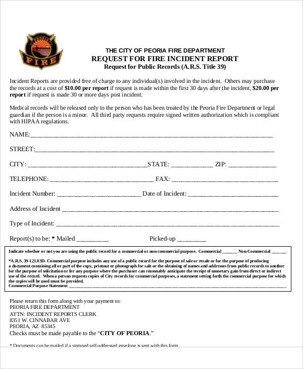 fire incident report form immix zypop template Home Design Idea - incident report template free