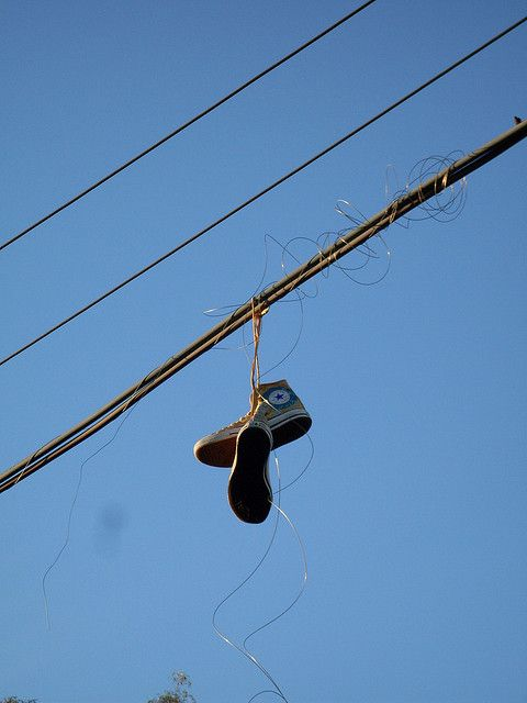 Shoes on Telephone Lines and Wires | Line photography ...