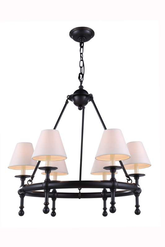 """View the Elegant Lighting 1406D26 Montgomery 26"""" Wide 6 Light Chandelier from the Urban Classics Collection at LightingDirect.com."""