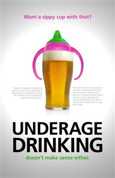 What is easier to support for Underage Drinking?