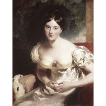 Margaret Countess of Blessington ca1822 Thomas Lawrence (1769-1830British) Oil on Canvas Wallace Collection London England Canvas Art - Thomas Lawrence (18 x 24)