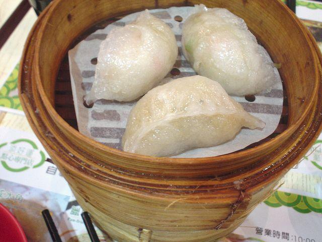 Potate and squid Dumpling Tim Ho Wan @ Yau Ma Tei in Hong Kong