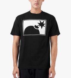 The Hundreds Black Forever Half-bomb T-Shirt Model Picutre