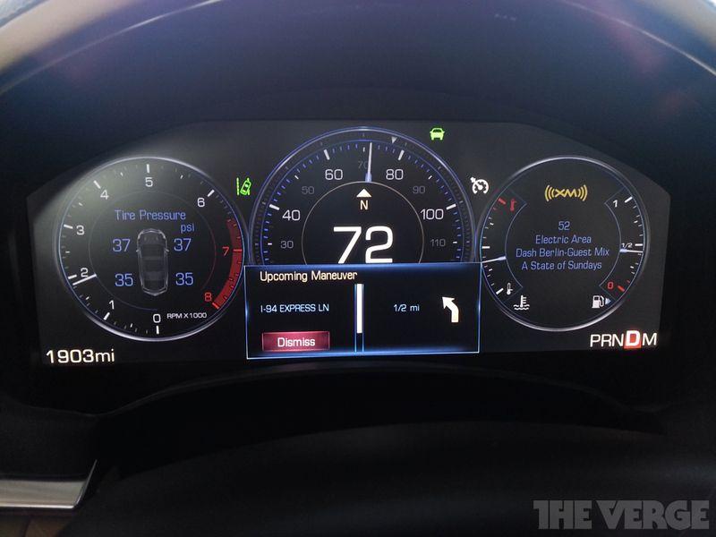 Cadillac CUE   Interaction Design   Digital instruments
