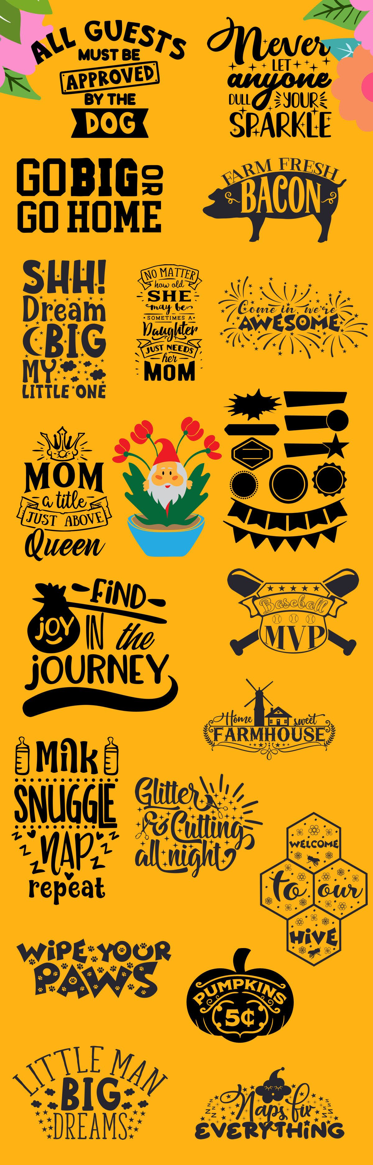 Free Craft Bundle 20 Cut Files Free Printables and Clip