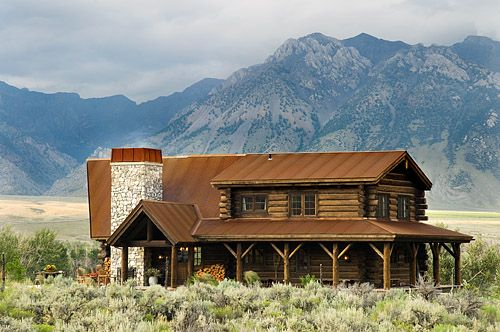 Wondrous Idaho Log Ranch House Ranch House Log Home Builders Log Download Free Architecture Designs Grimeyleaguecom