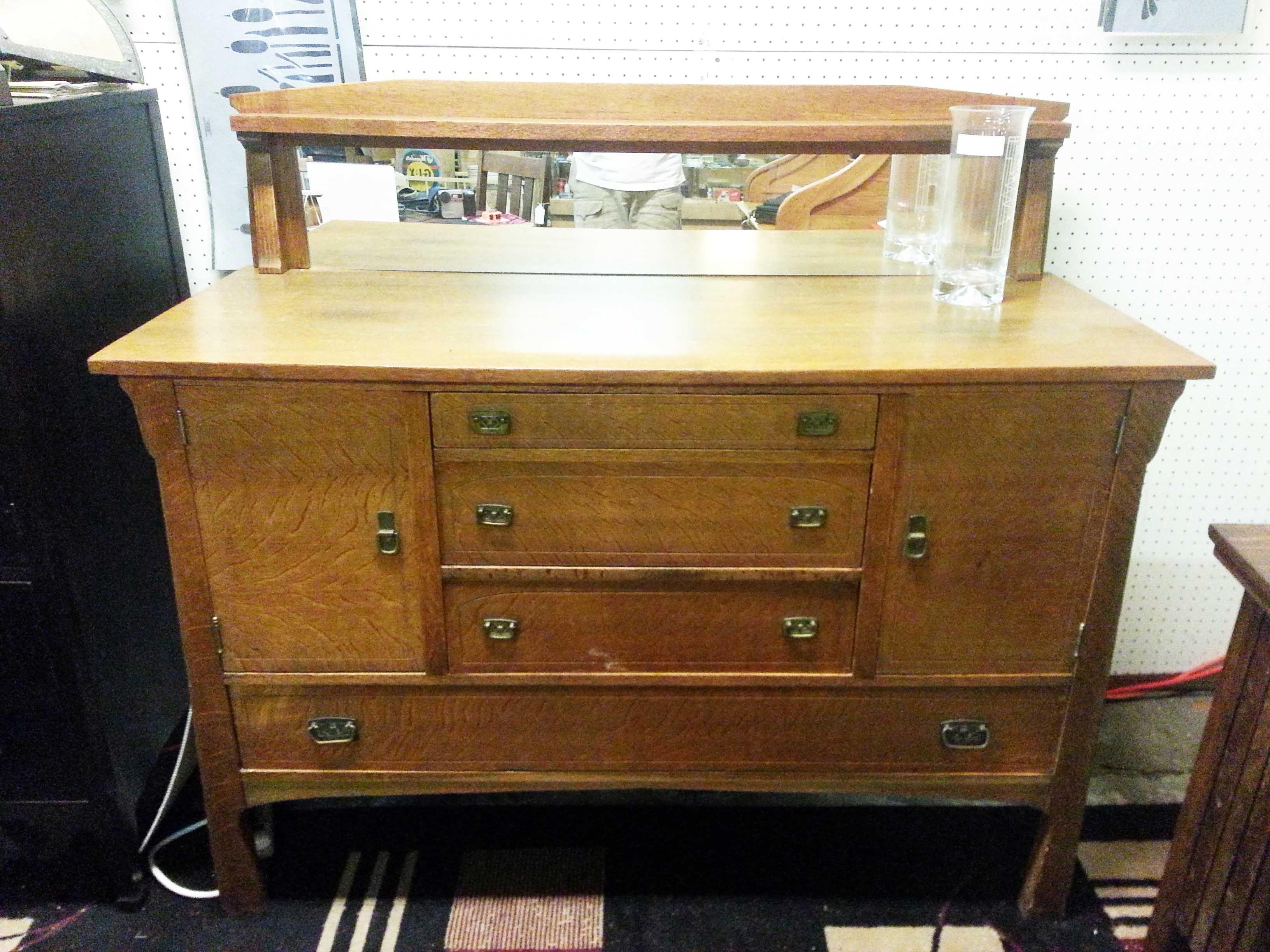 vintage craftsman voorhees thru mission category with j original drawer hammered furniture paneled tenons stickley desks copper g desk l hardware oak