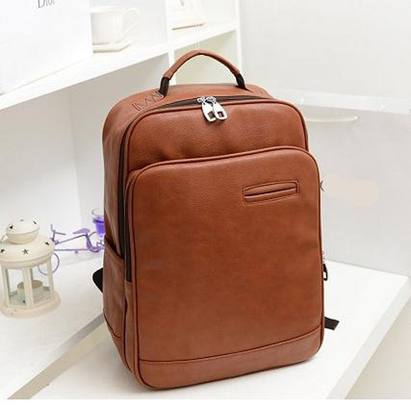 New College Wind leather Backpack men laptop backpacks women ...