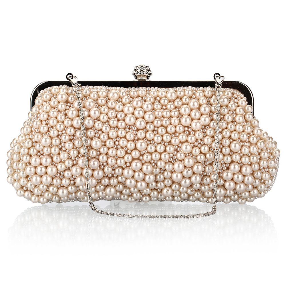 Hot Sale 2017 Women Day Clutch Ladies Wedding Party Handbags Female Pearl  Bridal Evening Clutches Bags Single Chain D005 ee77e5365204