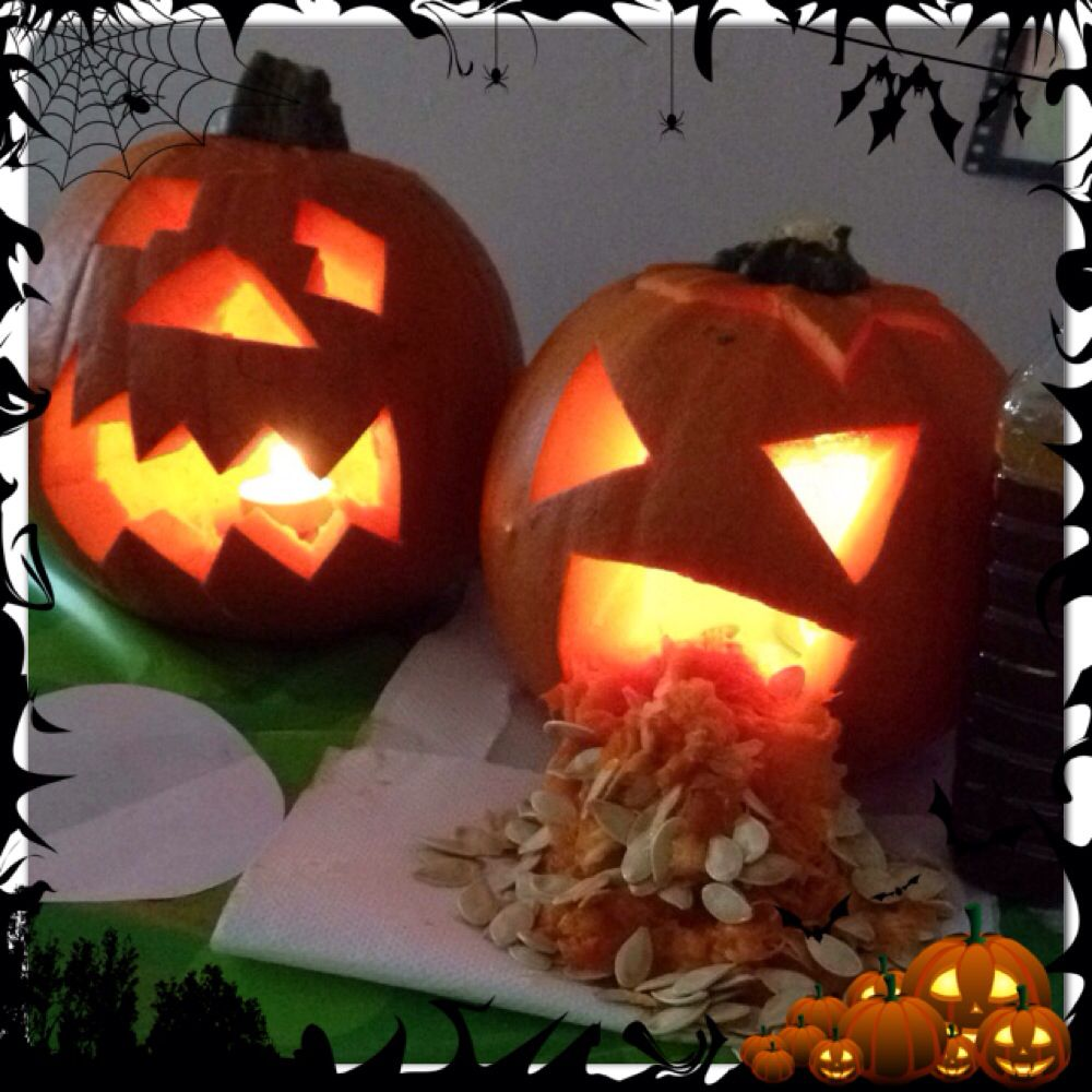 Pumpkin being sick! What fun and how easy it was to to do! Kids love them!