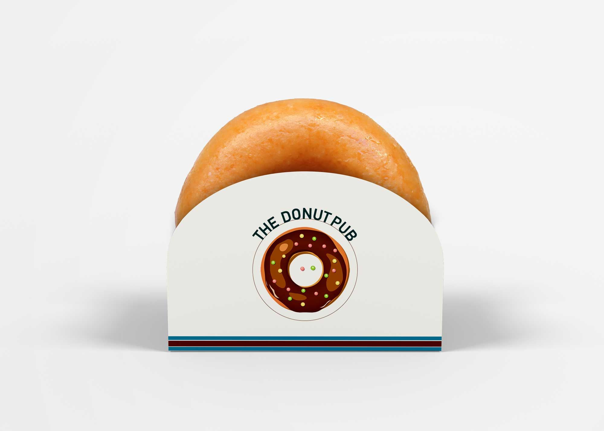 Download Free Single Donut Box Mockup Box Mockup Donut Box Mockup