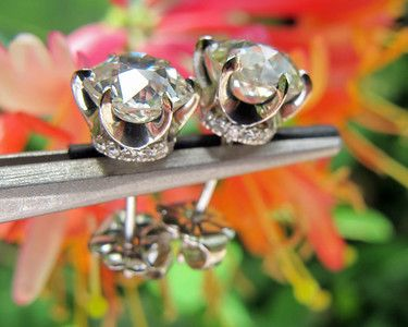 Love these antique cushion-cut diamond earrings!