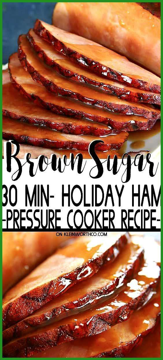 Pressure Cooker Brown Sugar Ham made in about 30 minutes Break out that Instant Pressure Cooker Br