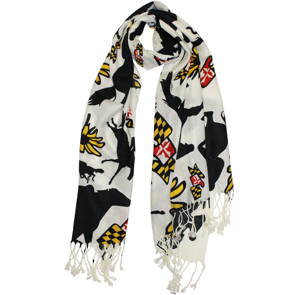 Share to Win a $100 Route One Apparel Gift Card!  Maryland Horse Racing (White) / Scarf