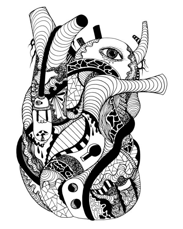 human heart drawing - the most beautiful hearts that will inspire, Muscles