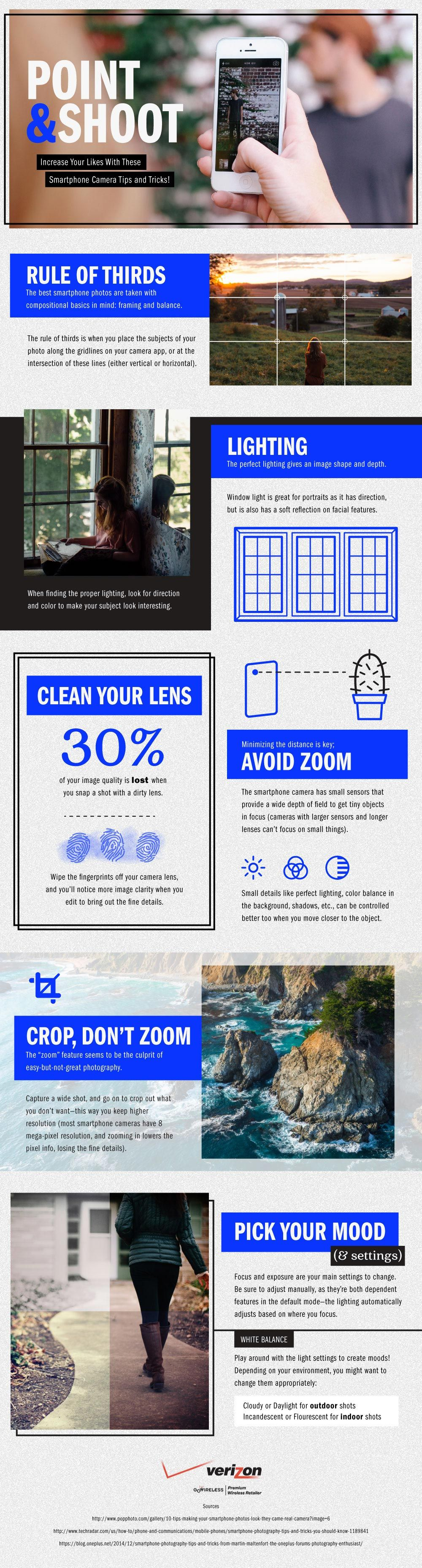 Smartphone Photography Tips and Tricks #Infographic