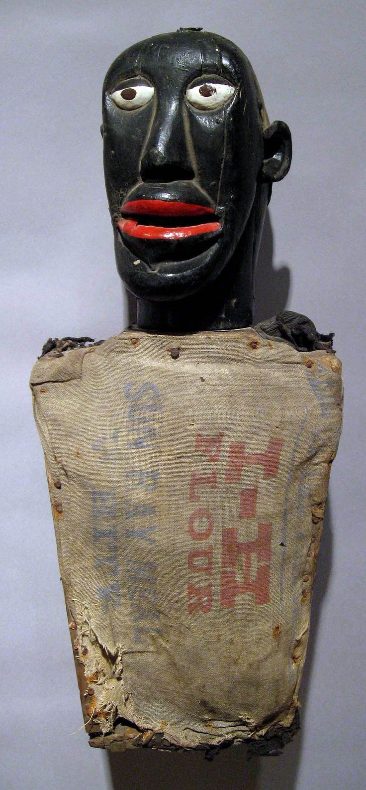 Ventriloquist's Minstrel Figure Artist Unknown Memphis, TN c. 1920 15.5 x 10 inches