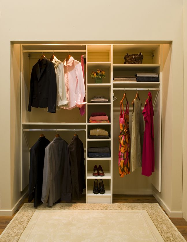 Simple Modern Minimalist Closet Ideas White Color Design Equipped With  Proper Lighting Unit Finished In Small