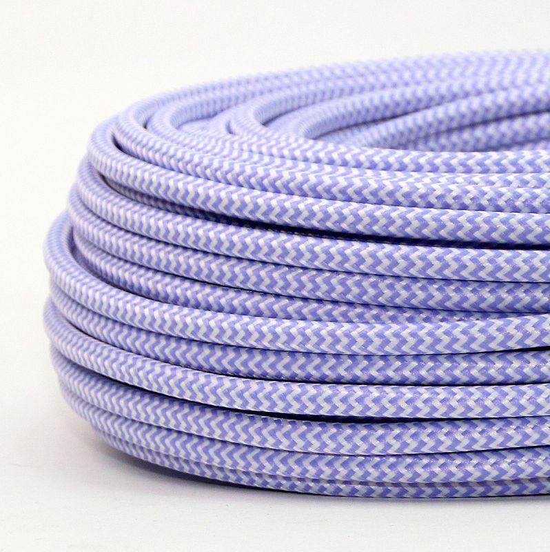Kabel 6 Textilkabel Textil Lila