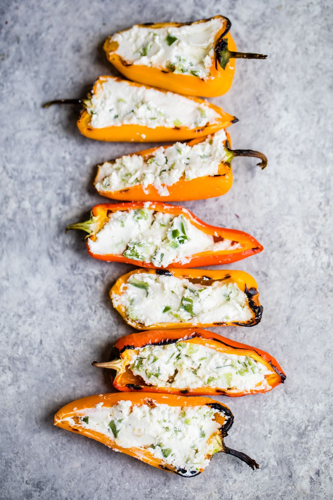 JALAPENO GOAT CHEESE GRILLED STUFFED MINI PEPPERS -