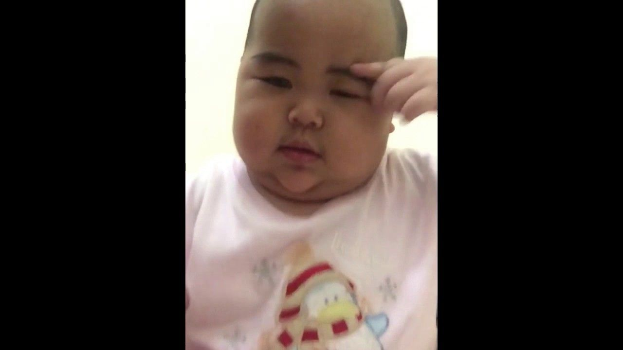 Funny Baby Video Tatan Clarification Related His Eyebrows CUTE
