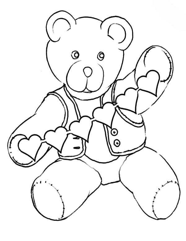 Holidays Teddy Bear In Love Coloring Pages Coloring Sky