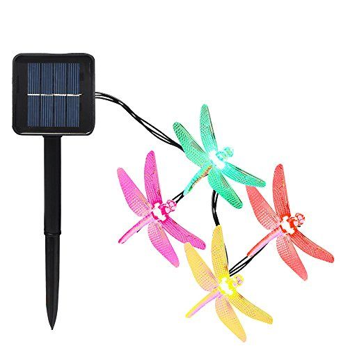 30led 8 Modes Dragonfly Solar String Lights Waterproof Multicolour 20 Feet This Is An Affiliate Link You Can Get More Details By Clicking On The