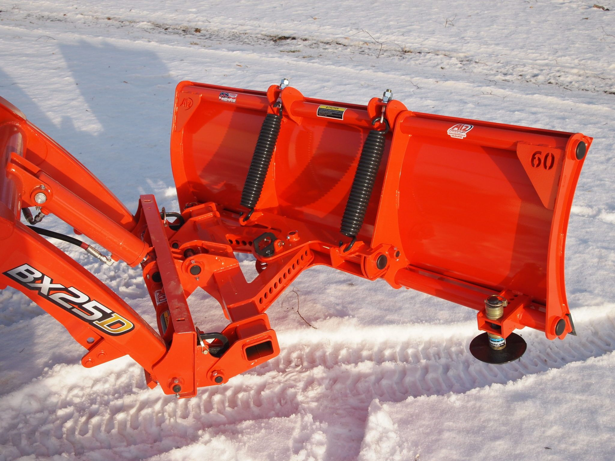 Kubota BX Quick attach snow plow attachments - BxAttachments
