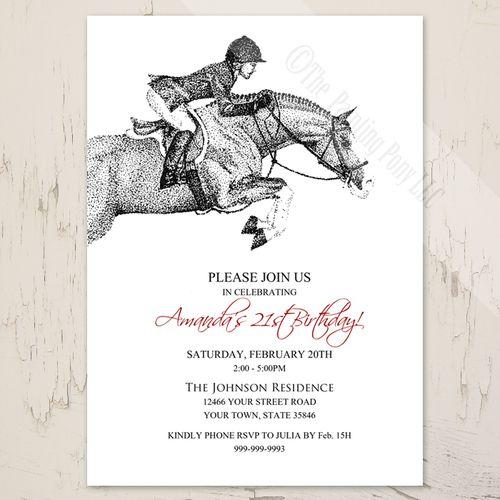 Hunter Pony Birthday Invitation 10 pk Sophies 8th Birthday