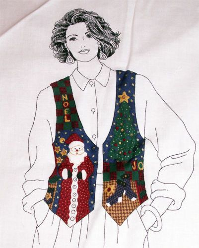 Christmas Vest Fabric Panel Sizes XS S M L Cranston VIP DreamSpinners