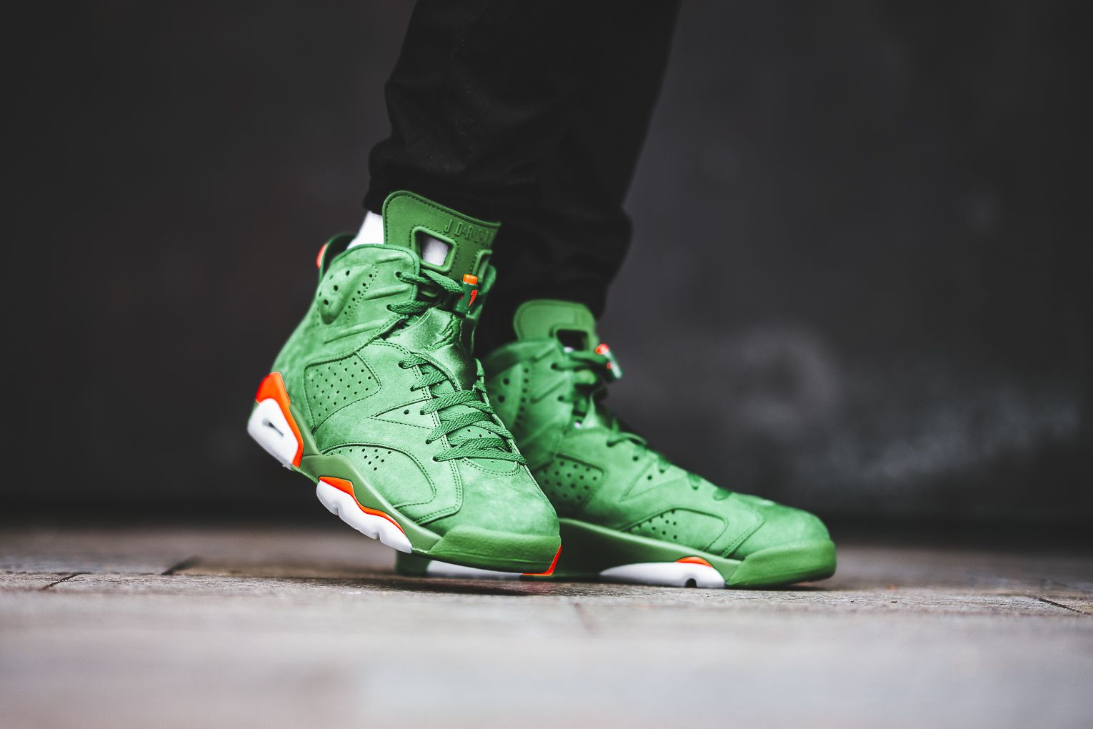 459ad0fedbf1 On-Feet Shots Of The Air Jordan 6 Gatorade Green