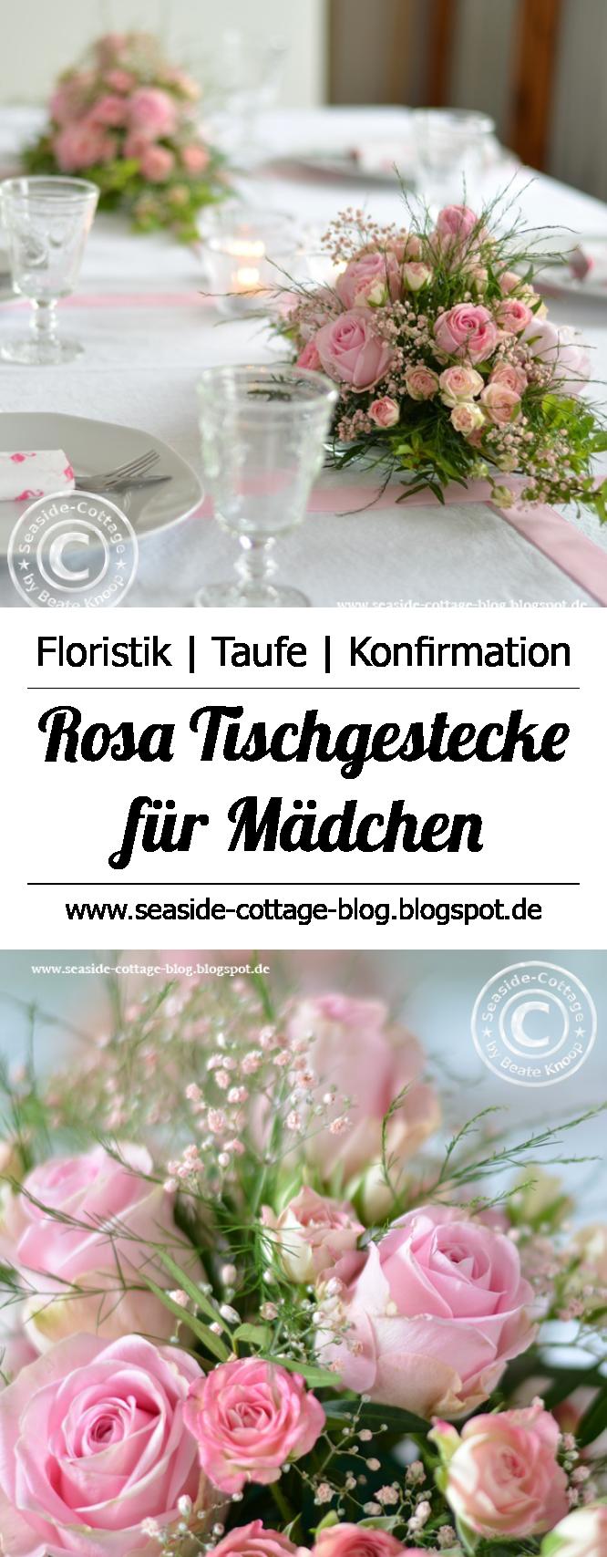 Dekoration Taufe Mädchen: Tischgestecke Zur Konfirmation Oder Taufe Eines Mädchens