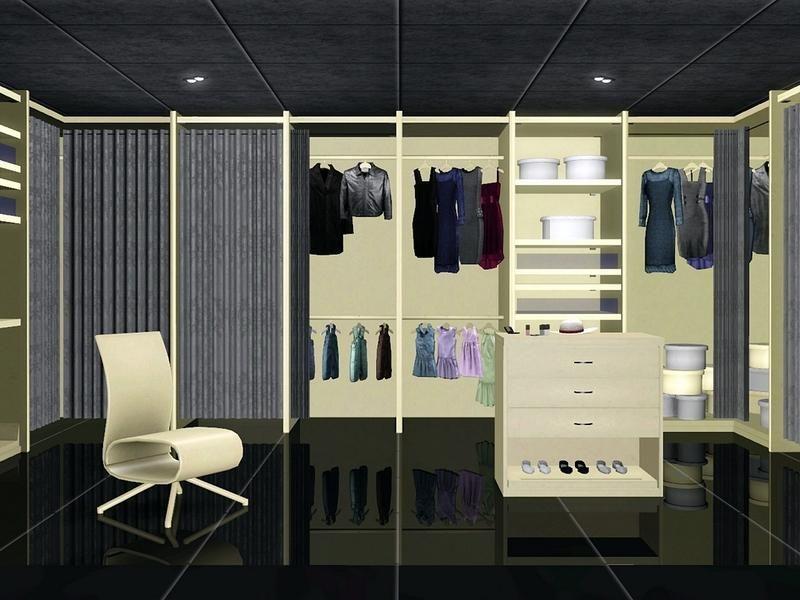 Flovv's White Cream Walk in Closet Walk in closet, Sims