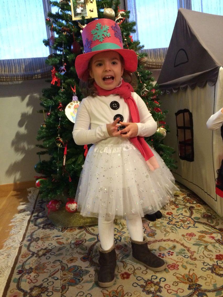 Disfraz muñeco de nieve casero Navidad