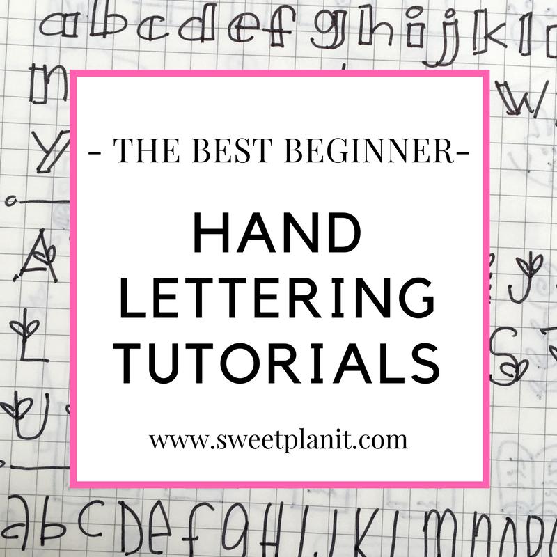 The Best Beginner Hand Lettering Tutorials — Sweet PlanIt