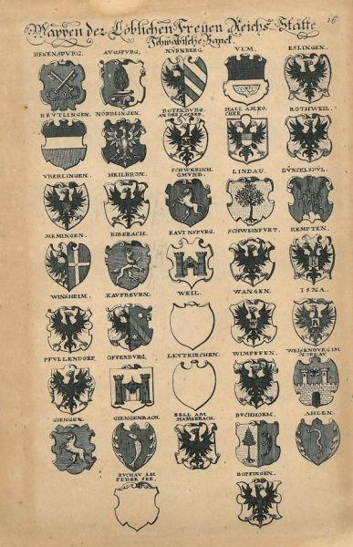 Wappen Der Reichsstadte Schwabische Bank Darunter Heilbronn Wappen Deutsche Digitale Bibliothek Heilbronn