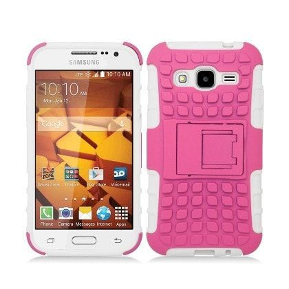WEMO Xtreme Armor Stand Case for Galaxy Core Prime - Pink/White