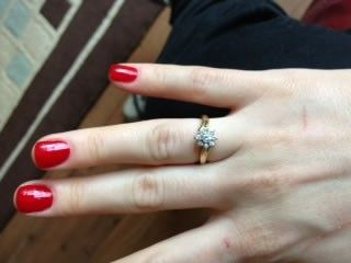 Congratulations to our diamond cluster ring winner - Kamila Wojcik.  Here she is wearing her prize!