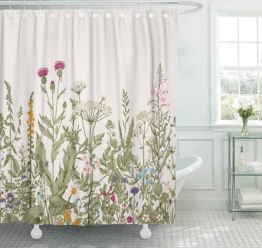 Eucalyptus Shower Curtain In 2020 Vintage Shower Curtains