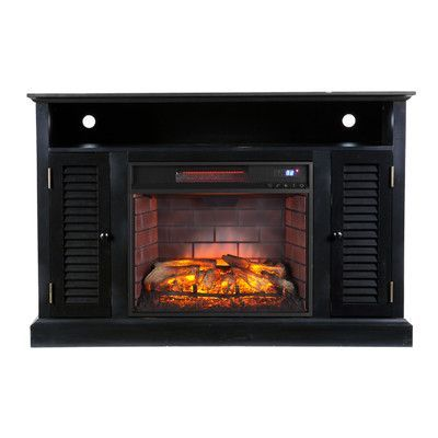 Wildon Home  Carron Media Infrared Electric Fireplace Finish: Distressed