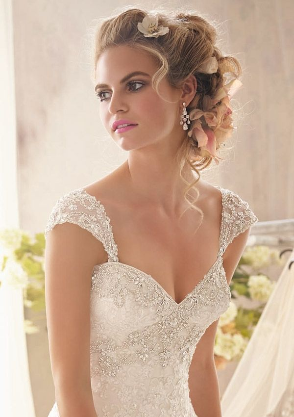 Bridal And Bridesmaid Accessory Dress Style 11052 Detachable Cap Sleeves With Beading Wedding Gown Accessories Wedding Dresses With Straps Wedding Cap Sleeves