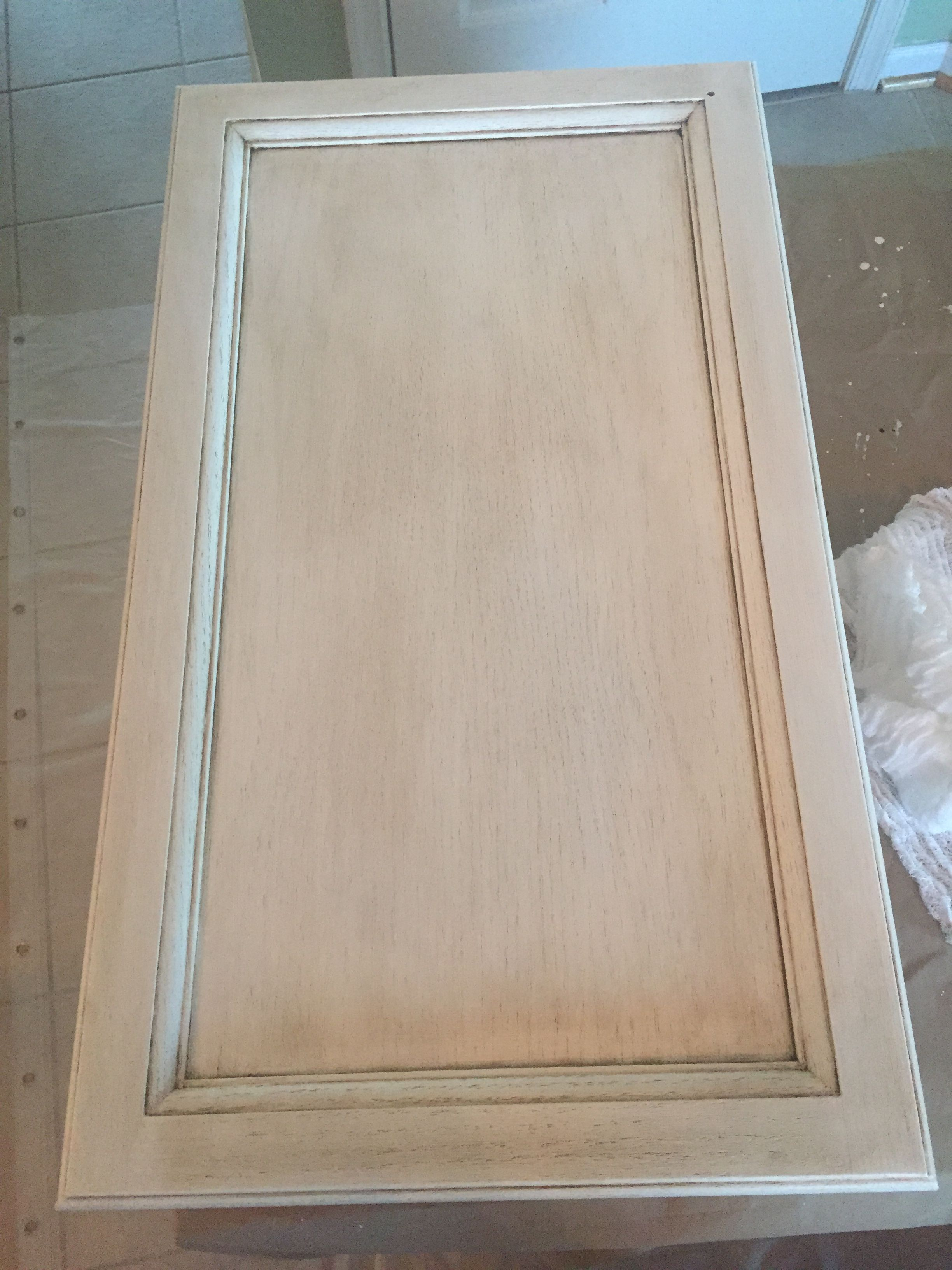 Our Rustoleum cabinet transformations pure white with glaze. | For ...