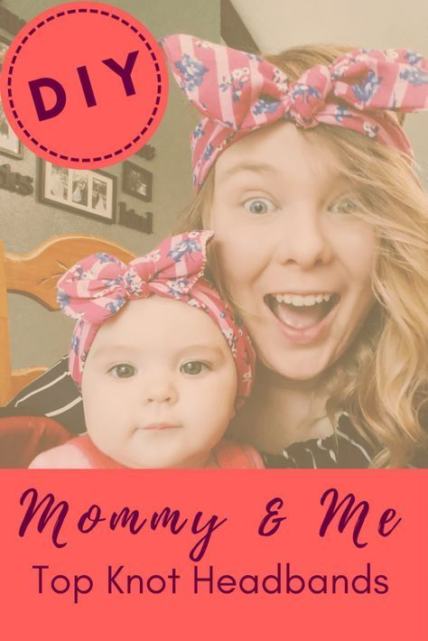 DIY Top Knot Headbands for Mommy and Baby #babyheadbandtutorial DIY Easy Top Knot Headband Tutorial for Mommy and Baby| The Independent Cavy #babyheadbandtutorial