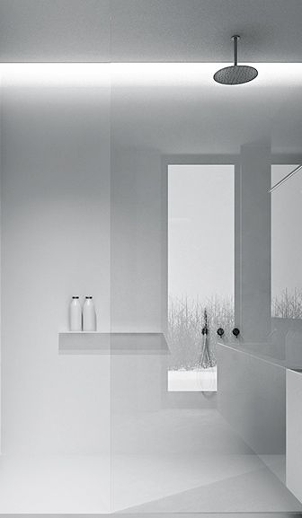 Ceramic interior architcture clean minimal design for Handtuchregal bad