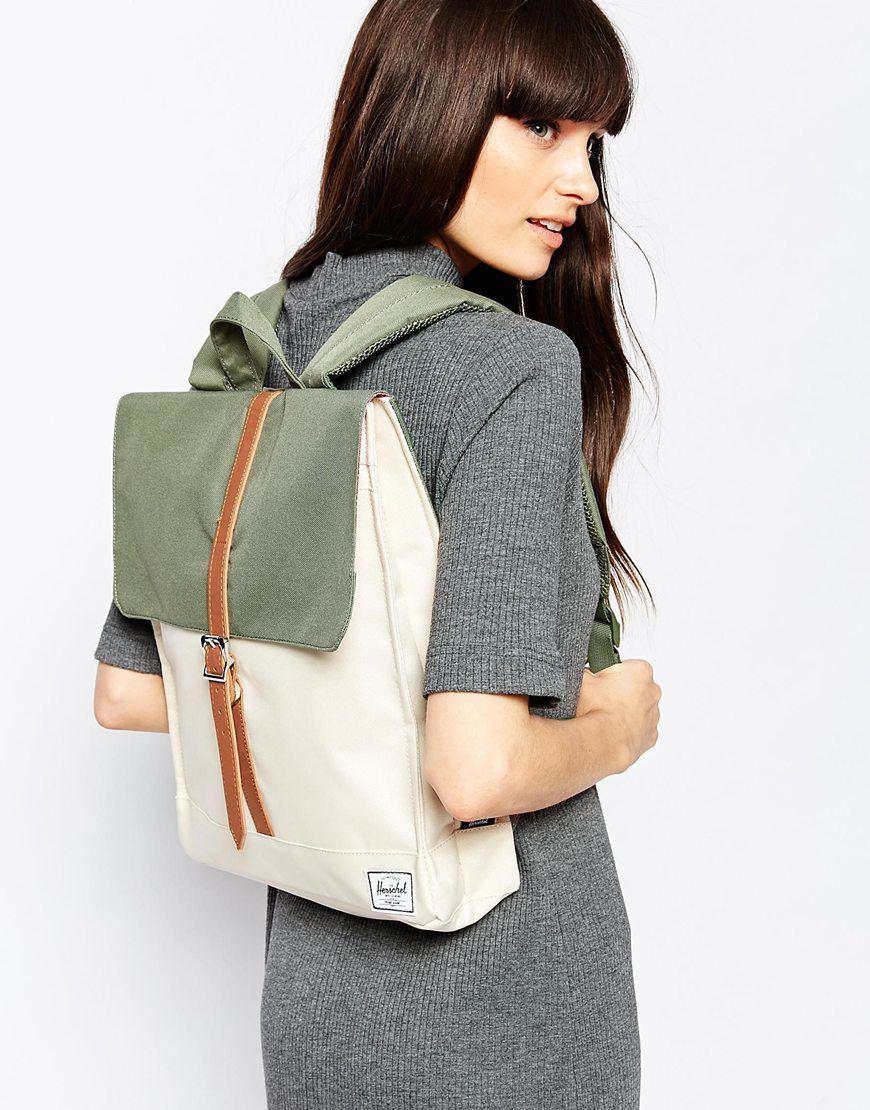 b27bd624a1d0 Image 3 of Herschel Supply Co City Backpack in Khaki Colour Block More